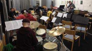 Borgå Big Band övar
