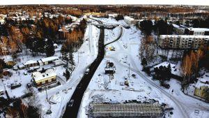 Alskatvägens vägarbete i Vasa.