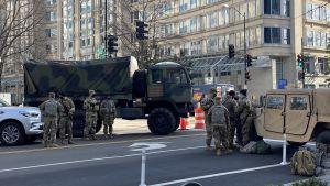 Över 20 000 soldater från nationalgardet vaktar staden