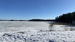 Kräkelsundet i Tolkis på vintern.