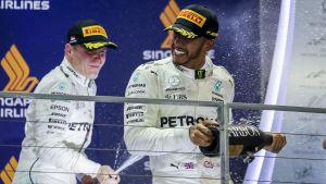 Lewis Hamilton, Valtteri Bottas.