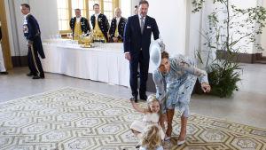 Prinsessan Madeleine och hennes familj.