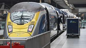 Höghastighetståget Eurostar på väg från London till Amsterdam.