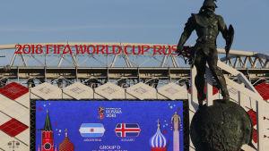 Bild på stadion i Moskva.
