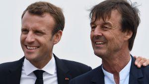 Emmanuel Macron och Nicolas Hulot