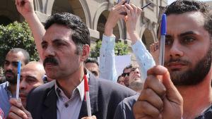 Protest för yttrandefrihet i Cairo
