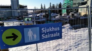 Här pågår bygget av det såkallade H-huset vid Vasa centralsjukhus.