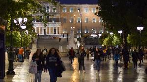 Syntagmatorget i Aten april 2019