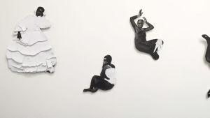 Verk av norska Frida Orupabo på Venedigbiennalen 2019.