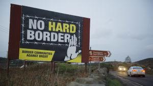 Gräns mellan Irland och Nordirland.