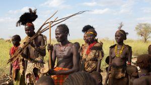 Alkuperäispaimentolaiskansaa Keniassa.