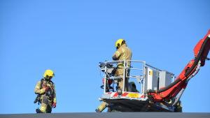 Liten brand i luftväxlignsrör hos EDM i Borgå 14.09.20