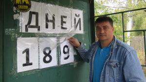 Efter nästan tvåhundra dagar av protester hotas Vjatjeslav Jegorov av fängelse.