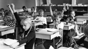 Grundskoleklass i Finland år 1970.