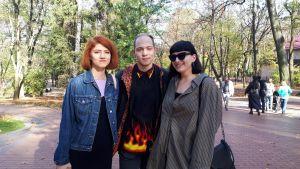 Trion i Ivan Franko-parken.