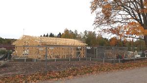 En byggarbetsplats.