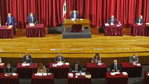 Det libanesiska parlamentet håller session