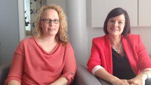 Sara Bondegård och Nina Ingves