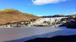 Glaciären Sólheimajökull i Island