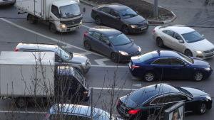 Biltrafik i Ryssland.