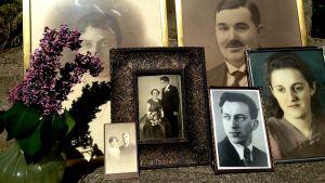 Gamla familjefotografier