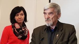 Juri Dimitrev med sin äldsta dotter Katja