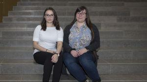 Tiia Sinisalo ja Nina Pitkänen opiskelevat Aalto-yliopistossa kauppatieteitä.