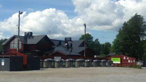 Ekopunkten vid Ingå småbåtshamn.