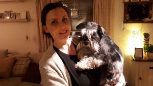 Hunden Lennart med matte Ann-Sofie Sund