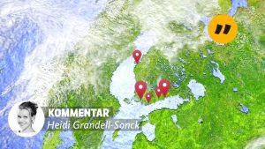 Gps-taggar på karta över Svenskfinland