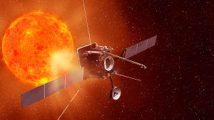 Rymdsonden Solar Orbiter ska utföra fjärranalyser av solen, solvinden och solutbrott på 4s miljoner kilometers avstånd.