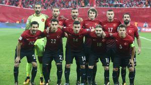 Turkiets herrlandslag i fotboll inför match den 6 oktober 2017.