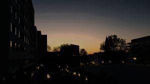 Åbo i kvällsljus, siluetter
