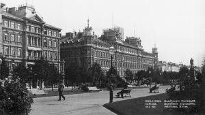 Historisk bild på Esplanadparken.