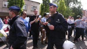 Myndigheterna i Belgien förbjöd ett högerextremt möte som skulle hållas i Anderlecht i västra Bryssel den 4 maj 2014.