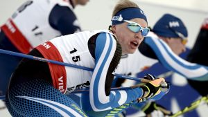 Iivo Niskanen under skiathlon.