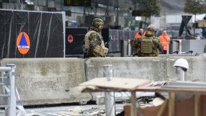 Zaventem flygplats efter terrorattackerna den 22 mars 2016.