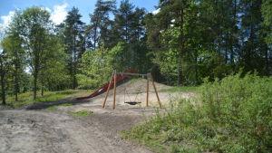 Ny park på Knipnäs badstrand