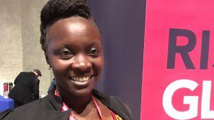 Victoria Nyanjura, som kidnappades av Herrens motståndsarmé när hon var 14 år.