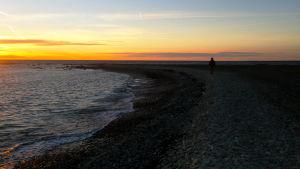 Auringonlasku Gotlannissa.