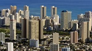 Vy över Honolulu.