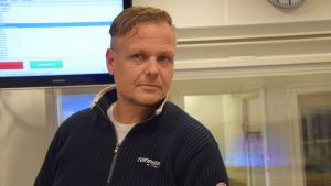 Fredrik Kevin, kårchef för Skogby FBK.