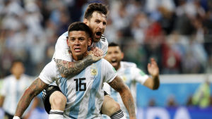 Argentina firar mål.