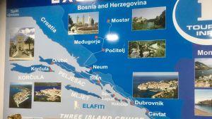 Karta över korta kryssningar i kroatiska skärgården.