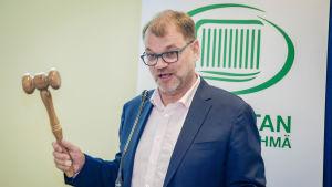 Centerns ordförande Juha Sipilä i Vanda där partiets riksdagsgrupp sammanträdde den 21 augusti 2018.