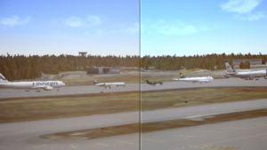 Simulator för utbildning av flygledare.