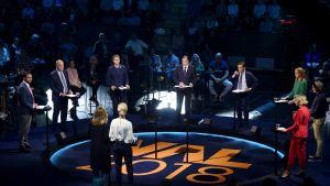 TV4:s valdebatt med alla partiledare för de svenska riksdagspartierna.