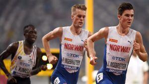 Jakob och Filip Ingebrigtsen löper i VM