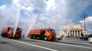 Bildar decifierar gator i Moskva.