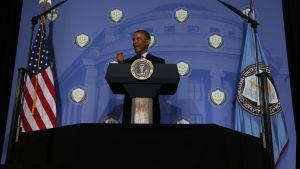 President Obama talar om cybersäkerhet